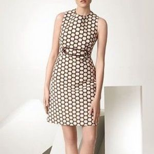 Tory Burch Tailored Dress Polka Dot Brown Fitted